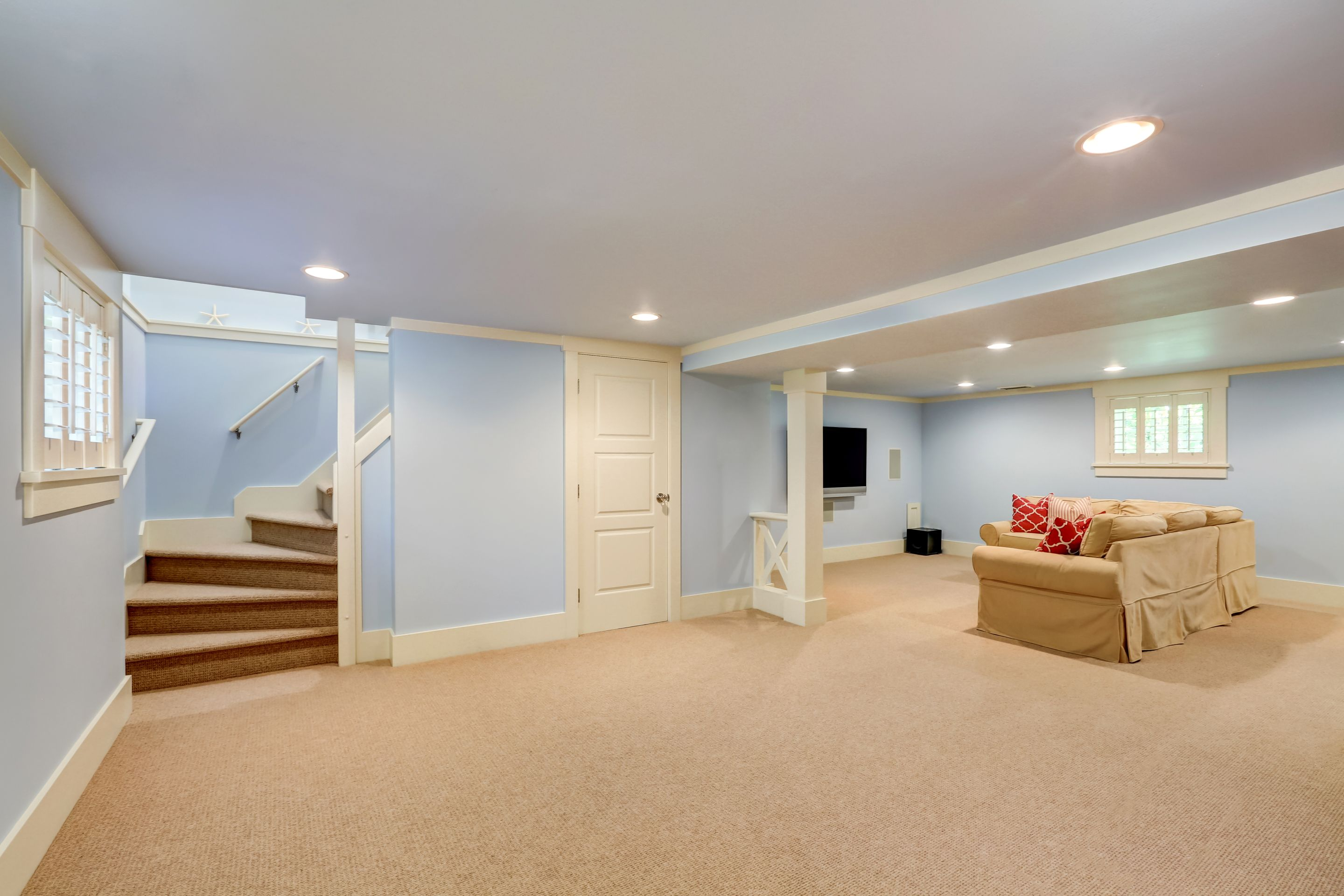 Basement Renovation Ideas Dealing With The Low Ceiling Smartguy