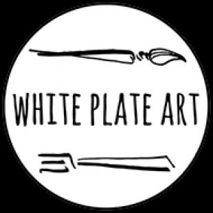white-plate-art